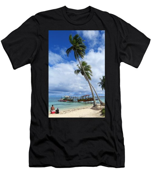 Bora Bora View Men's T-Shirt (Athletic Fit)