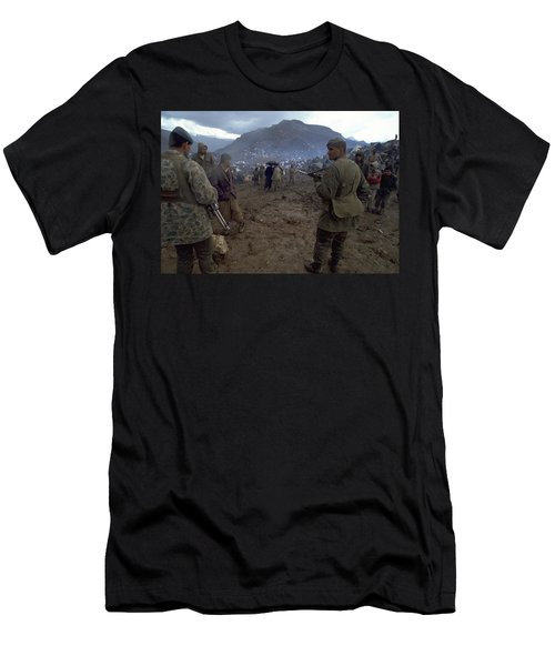 Border Control Men's T-Shirt (Athletic Fit)