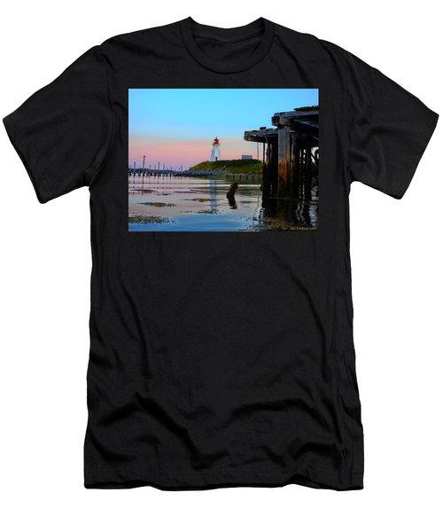 Border Lights Men's T-Shirt (Athletic Fit)