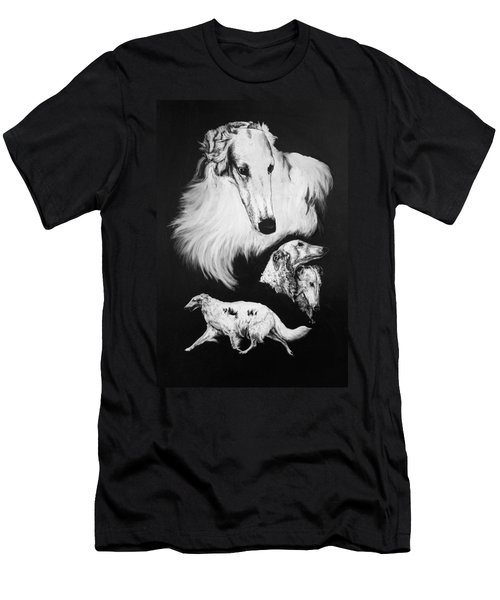 Men's T-Shirt (Slim Fit) featuring the drawing Borzoi by Rachel Hames