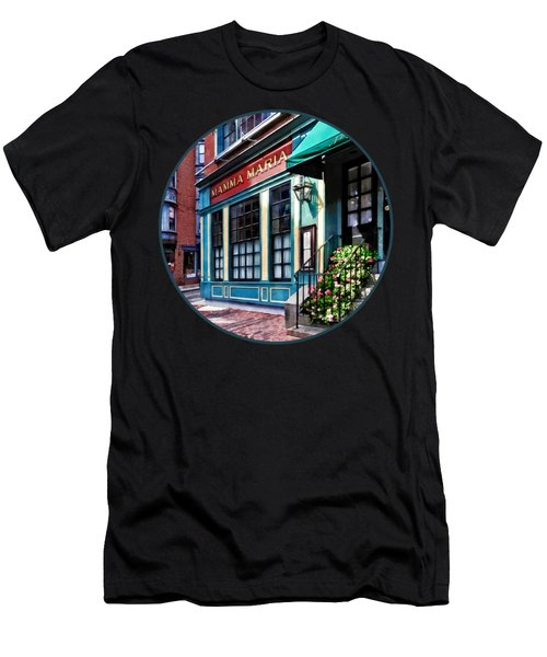Boston Ma - North End Restaurant Men's T-Shirt (Athletic Fit)
