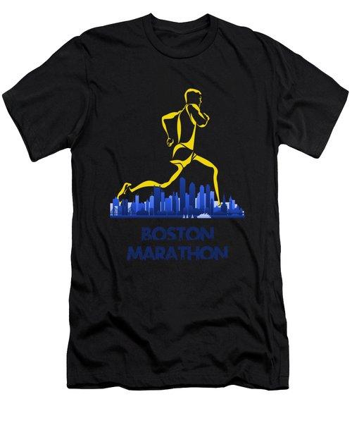 Boston Marathon5 Men's T-Shirt (Athletic Fit)