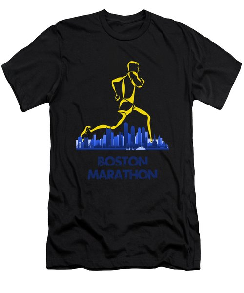 Boston Marathon5 Men's T-Shirt (Athletic Fit)