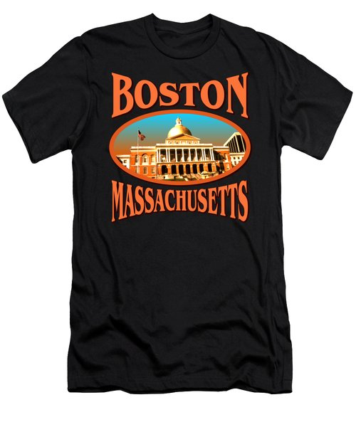 Boston Massachusetts Design Men's T-Shirt (Athletic Fit)