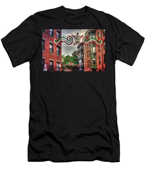 Men's T-Shirt (Athletic Fit) featuring the photograph Boston North End Saint Anthony's Feast by Joann Vitali