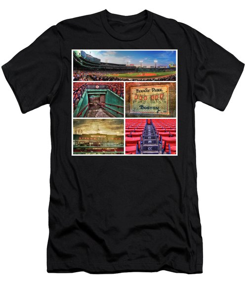 Boston Red Sox Collage - Fenway Park Men's T-Shirt (Slim Fit) by Joann Vitali