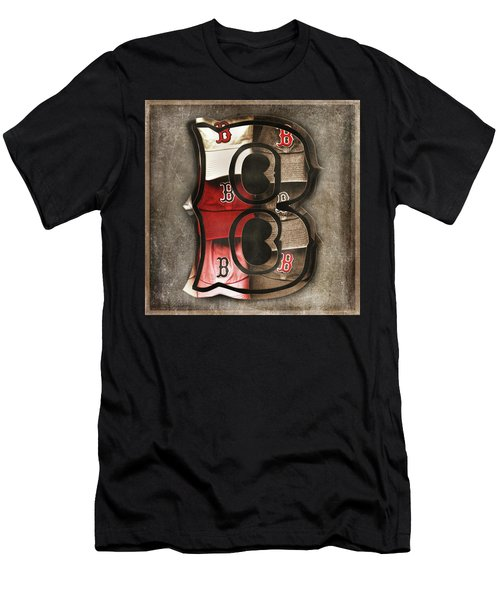 Men's T-Shirt (Athletic Fit) featuring the photograph Boston Red Sox  - Letter B by Joann Vitali