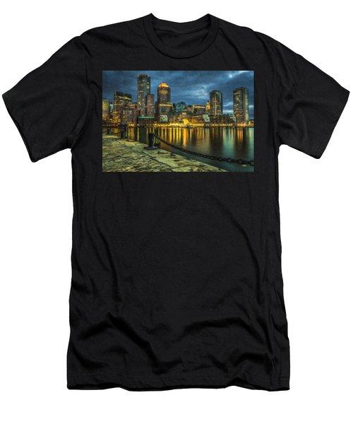 Boston Skyline At Night - Cty828916 Men's T-Shirt (Athletic Fit)
