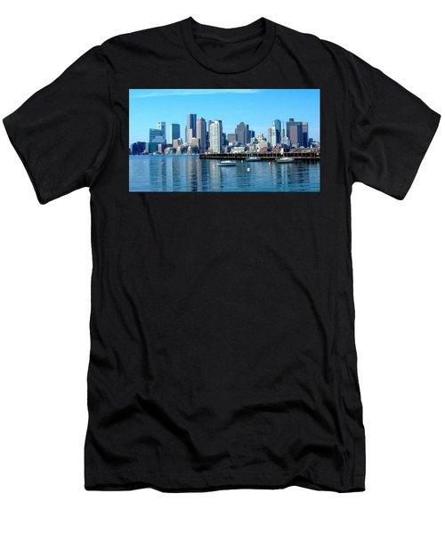 Boston Skyline B Men's T-Shirt (Athletic Fit)