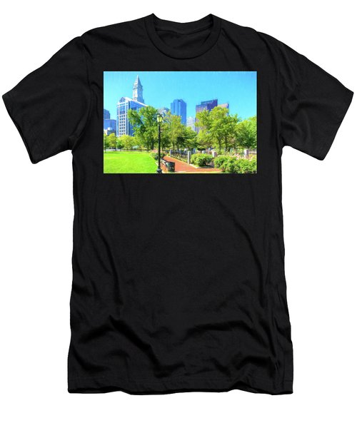 Boston Skyline From Columbus Park Men's T-Shirt (Athletic Fit)
