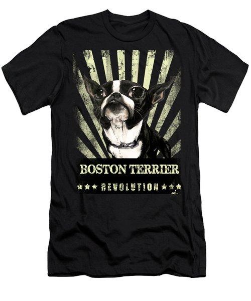 Boston Terrier Revolution Men's T-Shirt (Athletic Fit)
