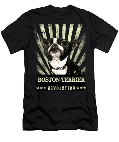 Boston Terrier Revolution Men's T-Shirt (Athletic Fit)