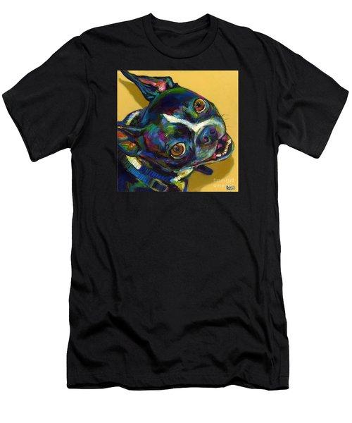 Men's T-Shirt (Slim Fit) featuring the digital art Boston Terrier by Robert Phelps