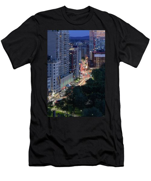 Men's T-Shirt (Athletic Fit) featuring the photograph Boston Tremont St by Michael Hubley