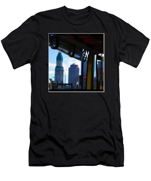 Boston Views From Tour Bus Window Men's T-Shirt (Athletic Fit)