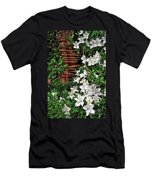 Botanic Garden Flowers Men's T-Shirt (Athletic Fit)