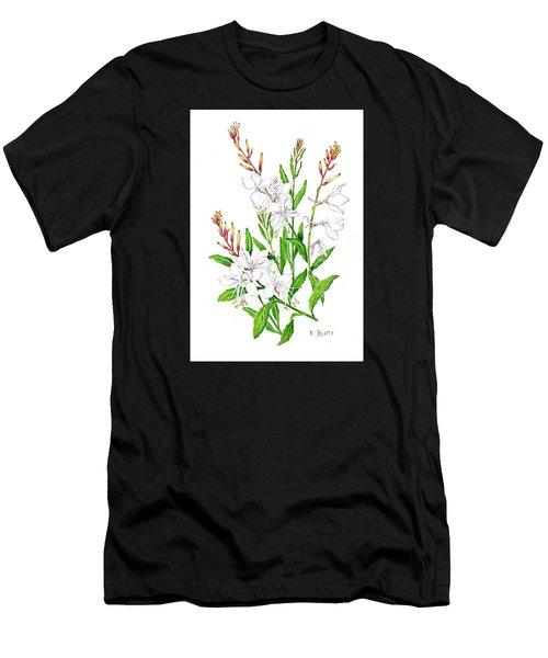 Botanical Illustration Floral Painting Men's T-Shirt (Athletic Fit)