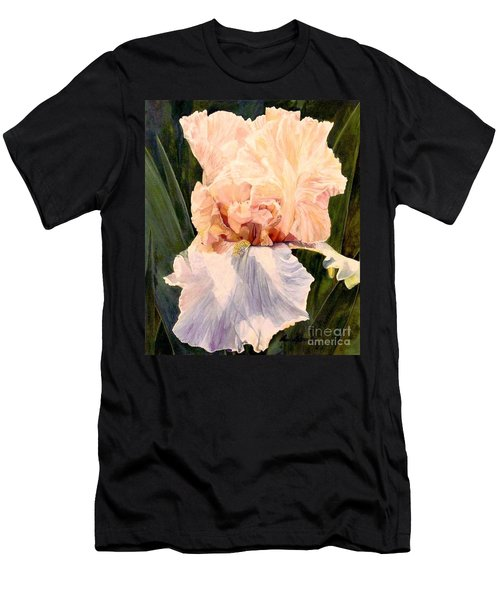 Botanical Peach Iris Men's T-Shirt (Athletic Fit)