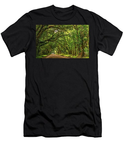 Botany Bay Edisto Island South Carolina Road Light And Shadow Men's T-Shirt (Athletic Fit)