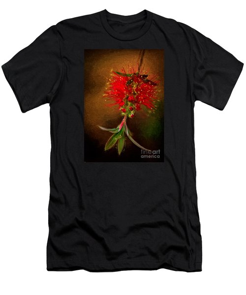 Bottle Brush Flower Men's T-Shirt (Athletic Fit)