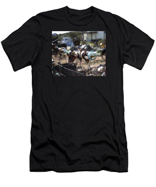 Bottle Fence Men's T-Shirt (Athletic Fit)