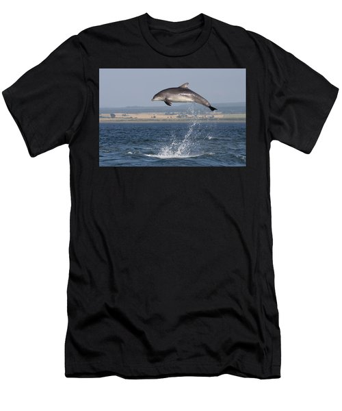 High Jump - Bottlenose Dolphin  - Scotland #42 Men's T-Shirt (Athletic Fit)