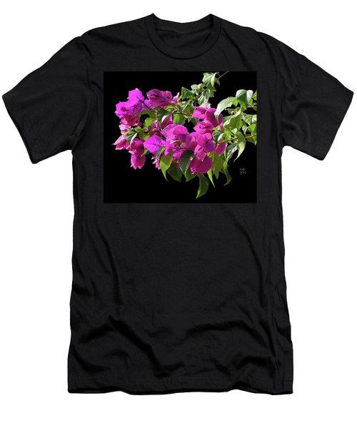Bougainvillea Cutout Men's T-Shirt (Slim Fit) by Shirley Heyn