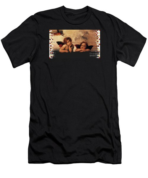 Men's T-Shirt (Slim Fit) featuring the painting Bouguereau Painting Fresh Paint  by Catherine Lott