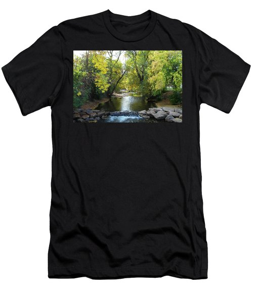 Boulder Creek Tumbling Through Early Fall Foliage Men's T-Shirt (Athletic Fit)