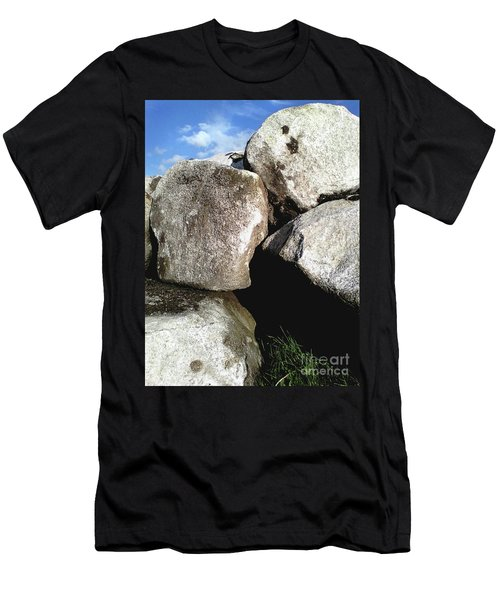Men's T-Shirt (Athletic Fit) featuring the photograph Boulders by Rebecca Harman