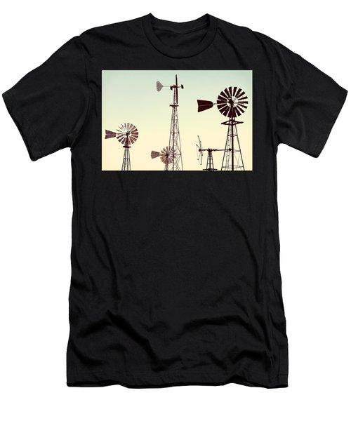 Bountiful Windmills Men's T-Shirt (Athletic Fit)