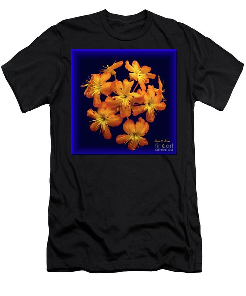 Men's T-Shirt (Slim Fit) featuring the digital art Bouquet In A Box by Donna Brown