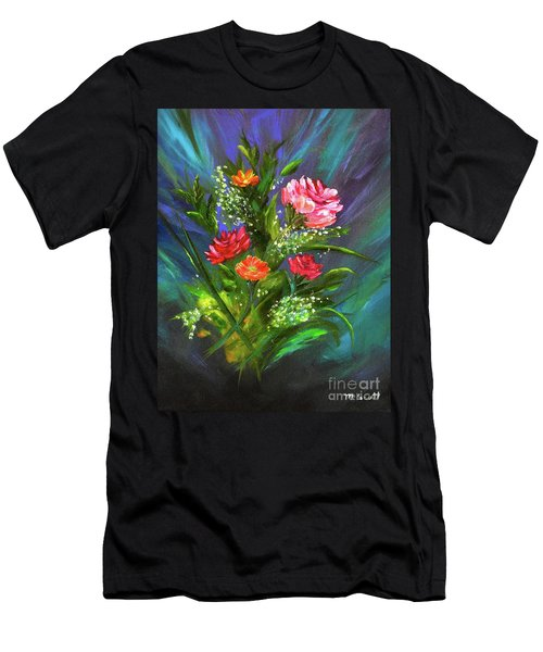 Men's T-Shirt (Athletic Fit) featuring the painting Bouquet by Mary Scott
