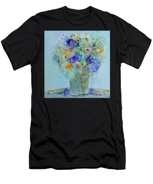 Bouquet Of Blue And Gold Men's T-Shirt (Athletic Fit)