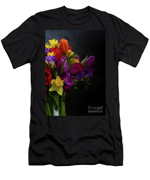 Flowers Dutch Style Men's T-Shirt (Slim Fit) by Anastasy Yarmolovich