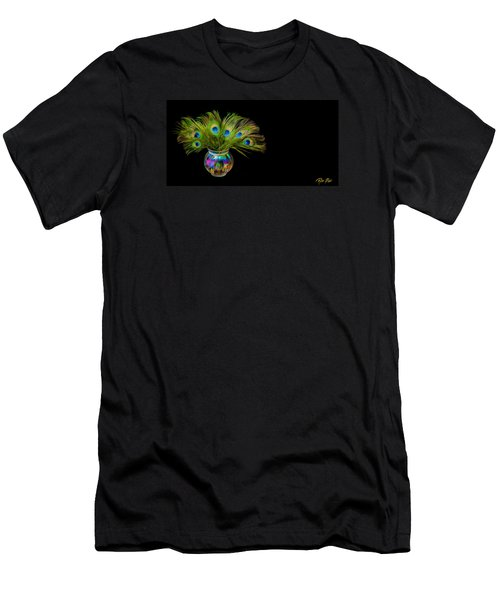 Men's T-Shirt (Athletic Fit) featuring the photograph Bouquet Of Peacock by Rikk Flohr