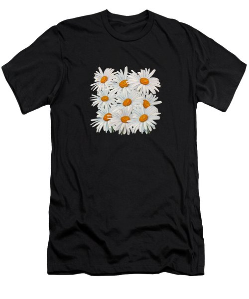 Men's T-Shirt (Athletic Fit) featuring the mixed media Bouquet Of White Daisies by Angeles M Pomata