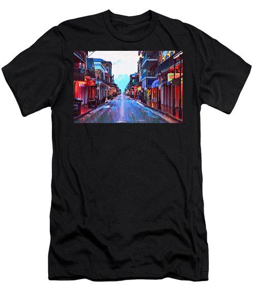 Bourbon Street At Dawn Men's T-Shirt (Athletic Fit)