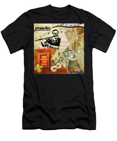 Bourbon Street Collage Men's T-Shirt (Athletic Fit)