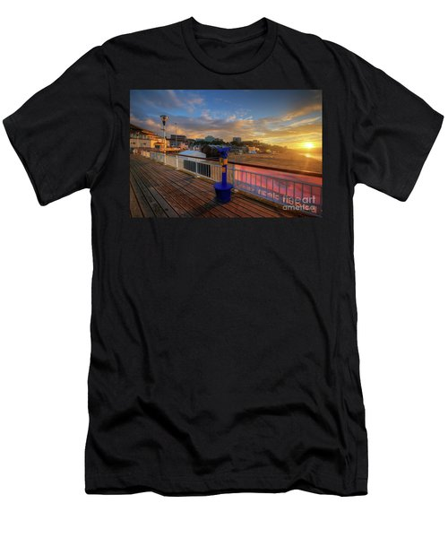 Men's T-Shirt (Slim Fit) featuring the photograph Bournemouth Pier Sunrise by Yhun Suarez