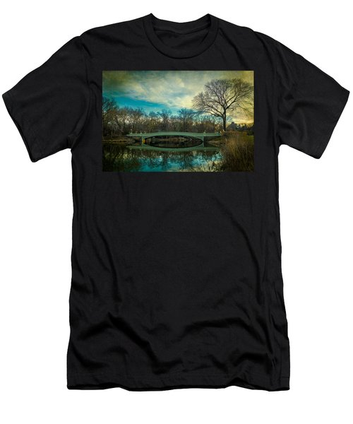 Men's T-Shirt (Slim Fit) featuring the photograph Bow Bridge Reflection by Chris Lord