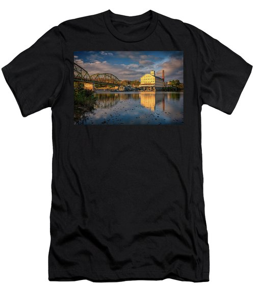 Men's T-Shirt (Athletic Fit) featuring the photograph Bowdoin Mill by Rick Berk