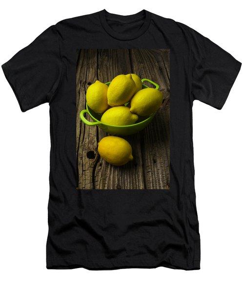 Bowl Of Lemons Men's T-Shirt (Athletic Fit)