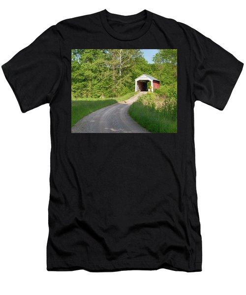 Bowser Ford Covered Bridge Lane Men's T-Shirt (Athletic Fit)