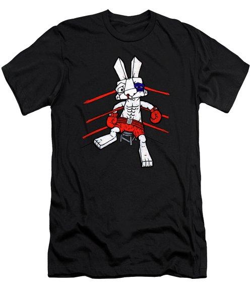Boxer Bunny Men's T-Shirt (Slim Fit) by Bizarre Bunny