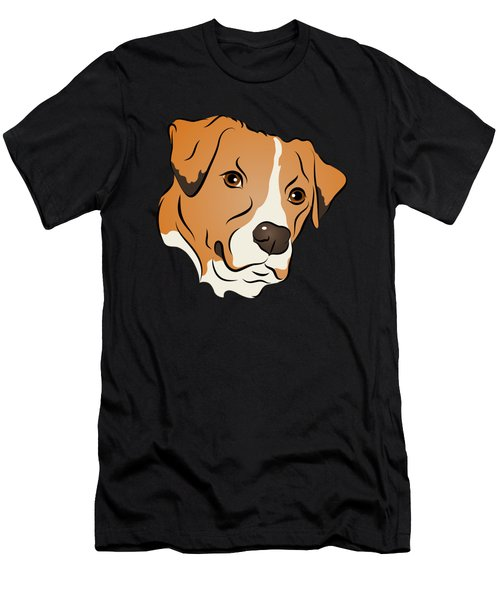 Boxer Mix Dog Graphic Portrait Men's T-Shirt (Athletic Fit)