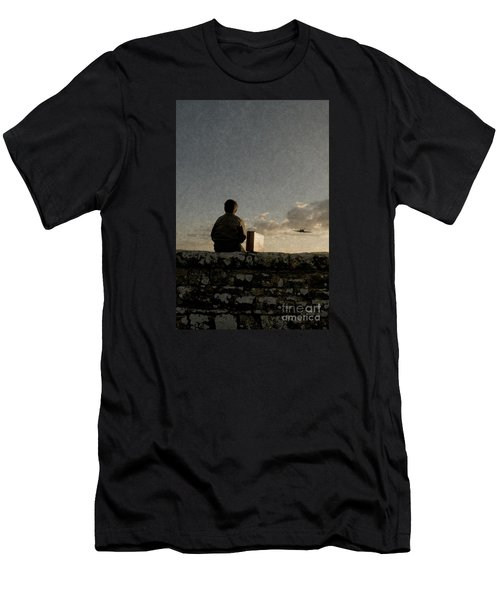 Boy On Wall Men's T-Shirt (Athletic Fit)