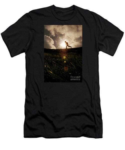 Boy Running Men's T-Shirt (Athletic Fit)