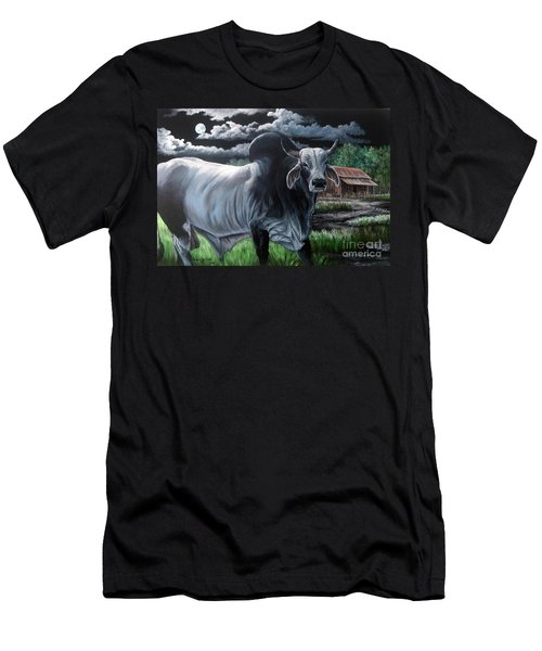 Brahma Bull- Okeechobee Moonlight Men's T-Shirt (Athletic Fit)