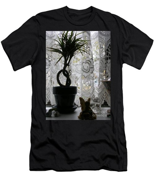 Braided Dracena On Sill Men's T-Shirt (Athletic Fit)
